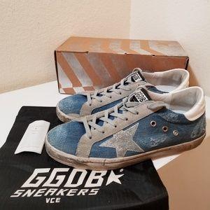 Golden Goose Superstar Denim Sneakers Navy W 11